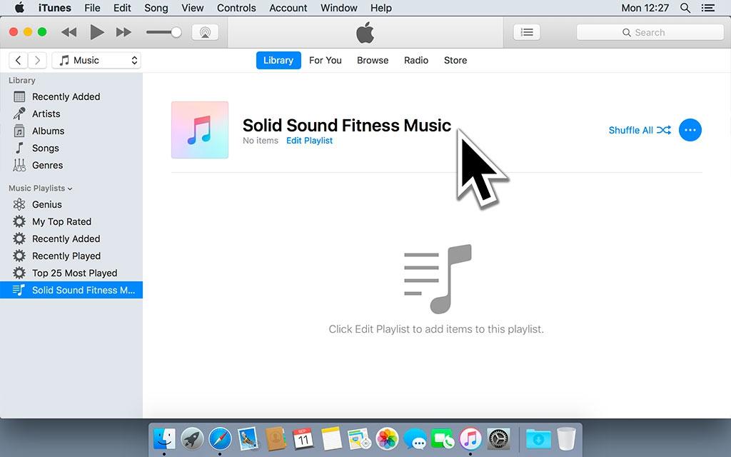 Open iTunes en maak een afspeellijst aan.