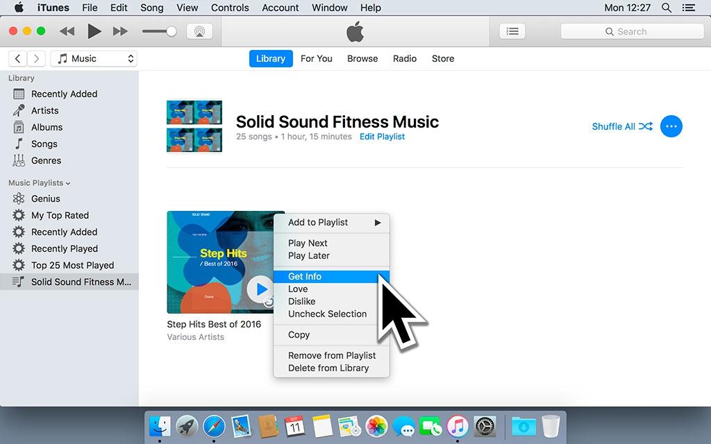 Klik met de rechter muisknop op het album en selecteer 'Toon info'